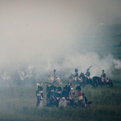 Vid 200 års dagen av slaget uppfördes en storskalig rekonstruktion av slaget.