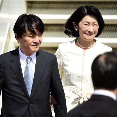 Japans kronprinspar i Finland 2.7.2019.