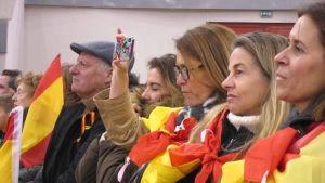 Från spanska högerpopulistiska partiet VOX kampanjevenemang.