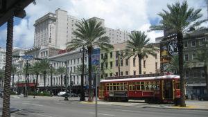 Spårvagn på Canal Street i New Orleans
