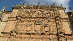 Salamancan yiopiston fasadia