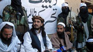 Talibanledaren Mehsud i mitten