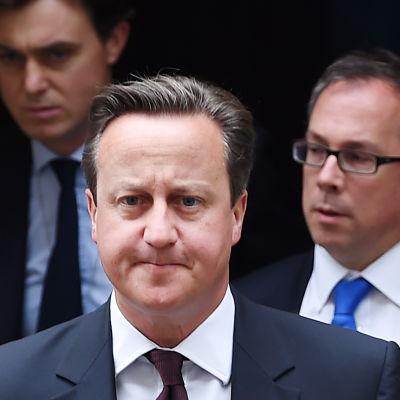 Premiärminister David Cameron utanför sin tjänstebostad i London den 7 september 2015.