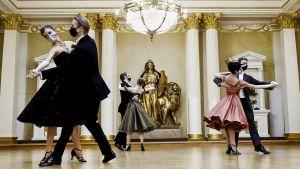 Också dansare från Nationalbaletten uppträdde i programmet Fest på slottet.