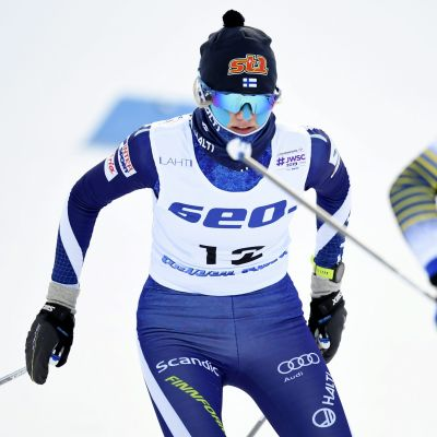 Vilma Nissinen i junior-VM i Lahtis.