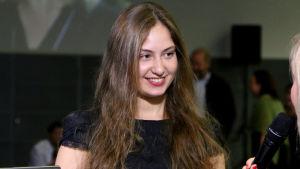 Daria Parkhomenko haastattelussa.