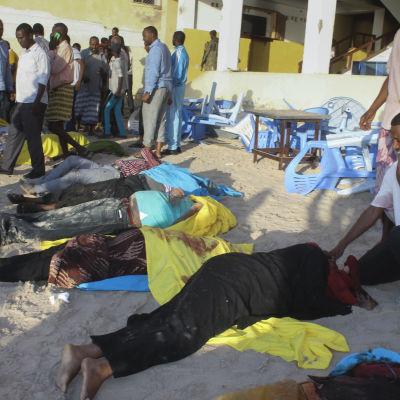 Offer för terrorattack mot strandrestaurang i Somalias huvudstad Mogadishu