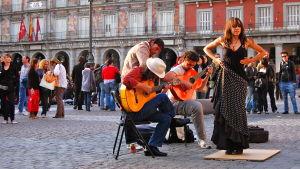 Flamencoa Madridin kadulla