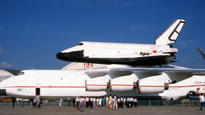 Den sovjetiska rymdfärjan Buran.