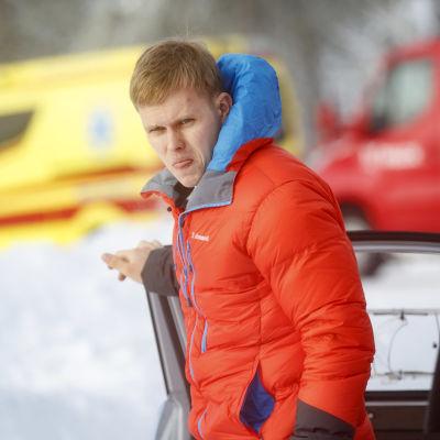Hyundain Ott Tänak Rovaniemen MM-rallissa 2021.