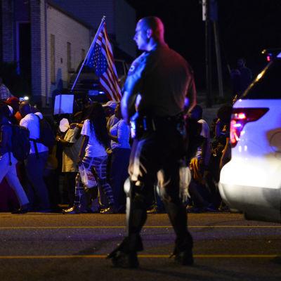Demonstranter i Ferguson, Missouri.