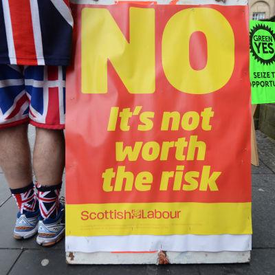 Valet i Skottland delar folket.