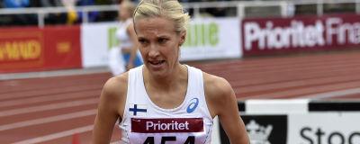 Camilla Richardsson löper under Sverigekampen.