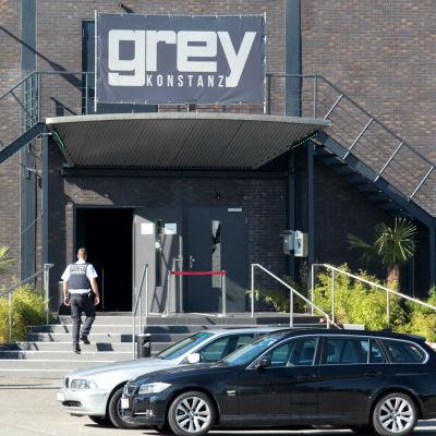 Två personer och tre skadades i skottdrama på nattklubben Grey i staden Konstanz i södra Tyskland den 30 juli 2017.