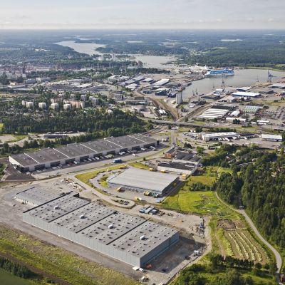 Utsikt över Åbo hamn
