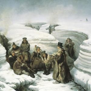 Lars Levi Laestadius saarnaa lappalaisille