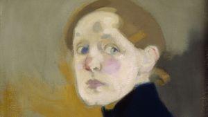 Helene Schjerfbecks självporträtt.