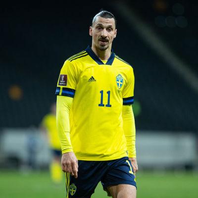 Zlatan Ibrahimovic i Sveriges VM-kvalmatch mot Georgien i mars.