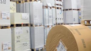 kirjapainon paperivarasto