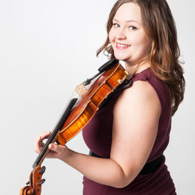 Maija Wesslund med fiol