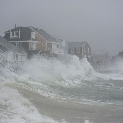 Scituate, Massachusetts, har drabbats hårt av stormen och högt vatten.