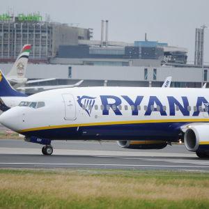 Ryanair flygplan.