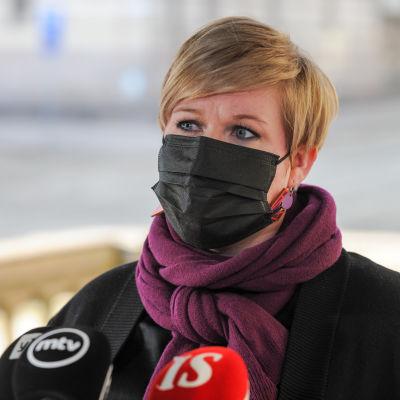 Tiede- ja kulttuuriministeri Annika Saarikko. 3.3.2021.