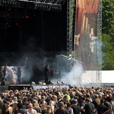 Metalveteranerna Testament på Tuska.