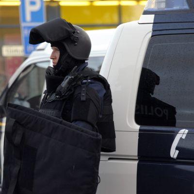 Polisen patrullerar i Hyvinge