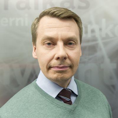 Tuomas Kurttila Aamu-Tv:n lämpiössä