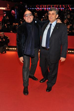 Gianfranco Rosi och Pietro Bartolo.