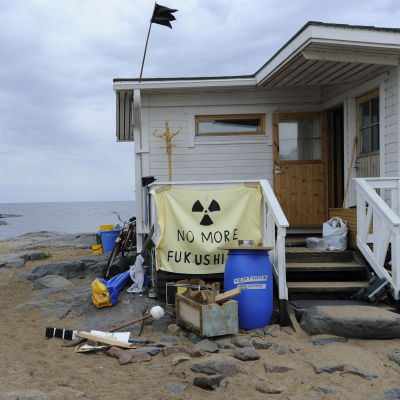 Sommarstuga som kärnkraftsaktivister fått ta över på Hanhikivi