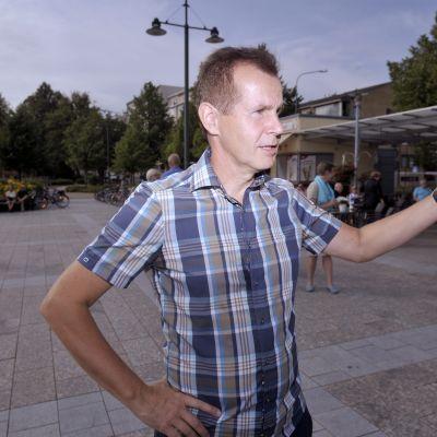 Jouni Backman på Socialdemokraternas sommarmöte i Villmanstrand.