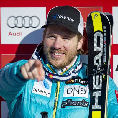 Kjetil Jansrud vann världscupen i super-G 2014-2015.