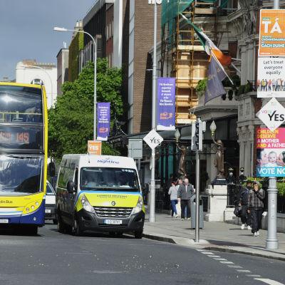 Valannonser i Dublin den 19 maj 2015.