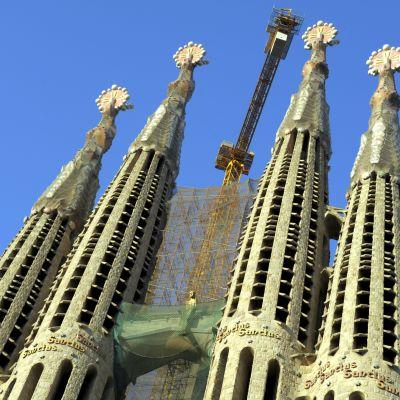 Kyrkan Sagrada Familia i Barcelona i Spanien.