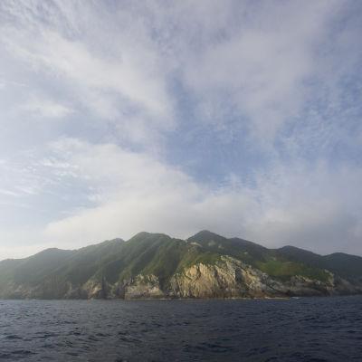 Den japanska ön Okinoshima.