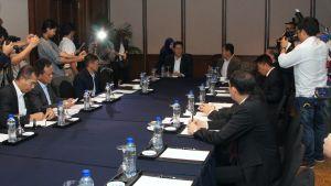 Thailand och landets största muslimska rebellgrupp BNS har inlett officiella fredsförhandlingar efter åratal av informella möten Bilden är från samtal år 2013 i Kuala Lumpur