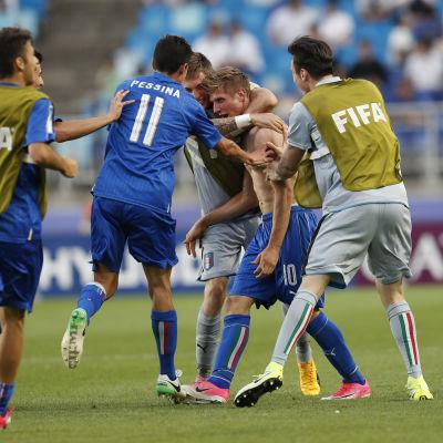 Luca Vido sköt Italien till semifinal vid U20 VM.