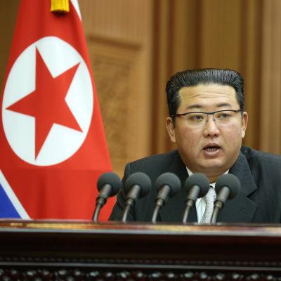 Bild på nordkoreas ledare Kim Jong-un