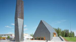 Arkkitehti Anssi Lassilan suunnittelema Kuokkalan kirkko