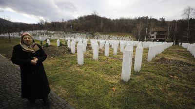 Begravningsplats i Srebrenica