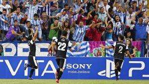 Malaga firar mål i Champions League