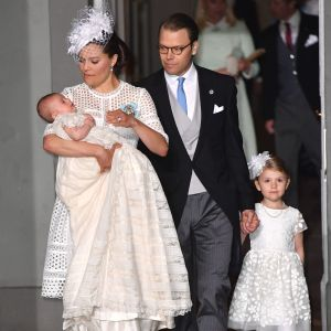 Kronprinsessan Victoria och prins Daniel med prinsessan Estelle och prins Oscar.