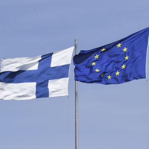 Finland och EU:s flaggor