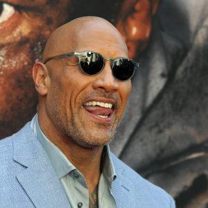 Dwayne Johnson på premiären av filmen Skyscraper.