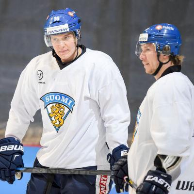 Aleksander Barkov och Jussi Jokinen, landslaget, 2015.