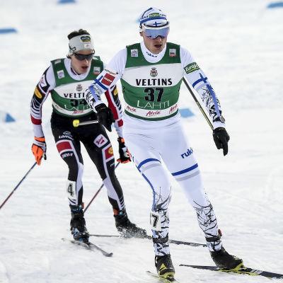 Hannu Manninen i skidspåret