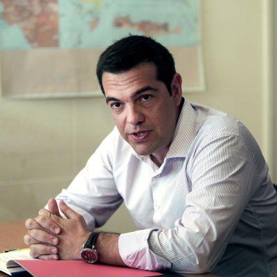 Greklands premiärminister Alexis Tsipras i Aten den 7 augusti 2015.