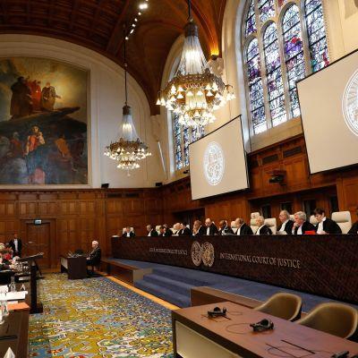 Internationella domstolen i Haag 6.3.2017 då domstolsprocessen mellan Ukraina och Ryssland inleddes.